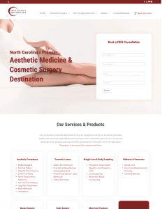Complete Laser Clinic and Cosmetic Surgery Center Website
