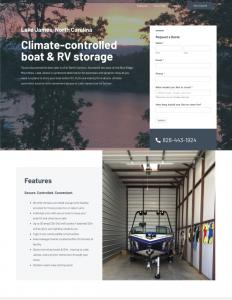 Boat and RV Storage Website