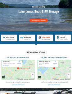 Noah's Landing - Boat & RV Storage Website