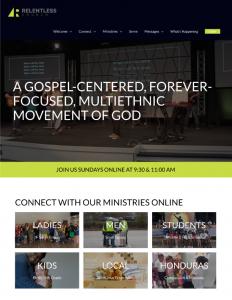 Relentless Church Website